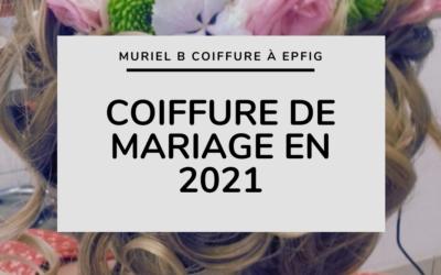 Coiffure de mariage en 2021